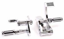 DNA Chrome Elite Forward Controls Pedals Pegs Control Kit Harley Softail FL FX