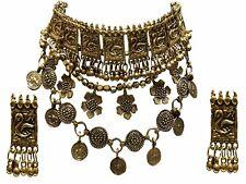 Indian Gold Oxidized Tribal Fashion Gypsy Ethnic Tassel Chain Vintage Necklace