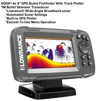 "Lowrance HOOK²-4x 4"" GPS Bullet Fishfinder/Track Plotter With SolarMAX™ Screen"