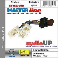 CONNETTORE ISO RADIO ORIGINALE MAZDA 626 FINO 2002. CONNETTORE RADIO MASTERLINE