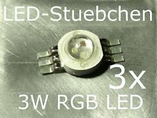3x 3w RGB High-Power LED emisor 3x 1w