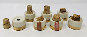 Lot Of 7 The Early Times Whiskey Decanter Bottle Corks Lids Covers Replacement