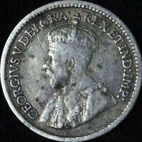 1913 Fine Canada Silver 5 Cents - KM# 22