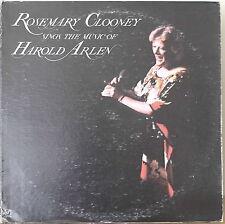 ROSEMARY CLOONEY SINGS THE MUSIC OF HAROLD ARLEN-1983LP Warren Vache/Dave McKenn