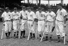 "1937 Baseball All Stars PHOTO, Lou Gehrig, Joe DiMaggio, Yankee Red Sox 16""x10"""