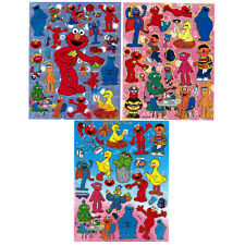 Sesame Street Elmo and  Friends Stickers Set of 3 Sheets -Vinyl Stickers