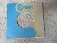 sleeve only MGM BLUE GOLD   45 record company sleeve only    45
