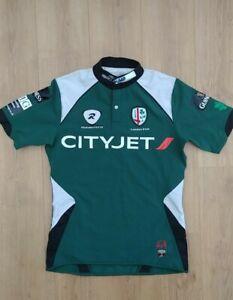 London Irish rare Rugbytech Cityjet Guiness Green rugby shirt size XL slim fit