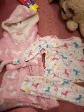Girls X3 Piece Unicorn Pyjama Set 18-24 Months Vgc