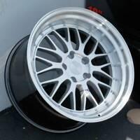 18x9.5 Hyper Silver Wheels ESR SR05 SR5 5x100 35 (Set of 4)