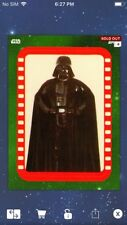 Topps Star Wars Digital Card Trader Green Sticker Art 5 Vader Insert Award
