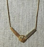 Vintage Goldtone Necklace By Trifari