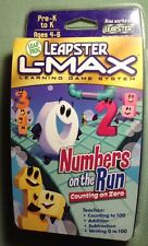 Leapfrog Leapster L-Max Numbers on the Run Counting Game Pre-K to K - NEW Sealed