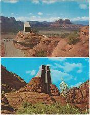 Chapel of the Holy Cross near Sedona Arizona Lower Oak Creek Canyon 2 Postcards
