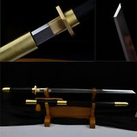 Full Tang Blade Chinese Sword Brass Fittings Hand Forge Sharp High Carbon Steel