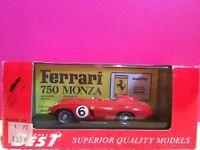 MODEL BEST SUPERBE FERRARI 750 MONZA SPA 55 NEUF EN BOITE ech 1/43 G3