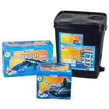 Teichfilter BioFilter Set 10.000 UV, Koi Teich Filter Pumpe Komplettset komplett