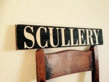 Scullery Kitchen Sign Plaque Vintage Old Style Pub Hotel Home Cooking Mum Baking