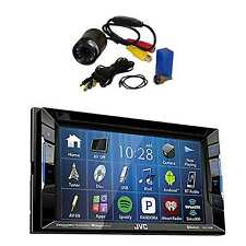 JVC KW-V130BT DVD/CD/AM/FM Car Stereo Receiverwith Flush Mount Rear View Camera