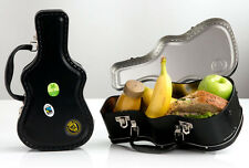 SuckUK Guitar Case Lunch Box Metal Tin Container Handle Travel Food Music Gift