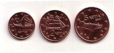 Grecia 1,2 e 5 centesimi 2014  FDC