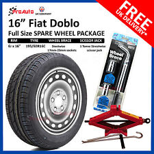 """FIAT DOBLO 2010 - 2017 FULL SIZE STEEL SPARE WHEEL 16""""  AND TYRE + TOOL KIT"""