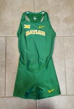 Nike Mens Elite Baylor Bear Speedsuit Track Singlet Size Medium Green Rare