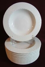 Pillivuyt Porcelain France Basketweave Rimmed Soup Bowl Williams Sonoma 10 avail