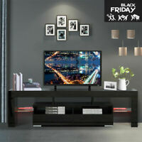 67'' High Gloss TV Stand Entertainment Console Cabinet Unit w/ RGB LED Lights