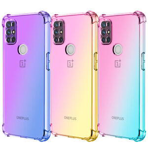 Gradient Clear Shockproof Case Slim TPU Cover For OnePlus Nord N100/N10 5G 9 Pro