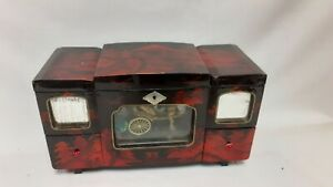 Large Chinese lacquered Musical Jewellery box - working condition.