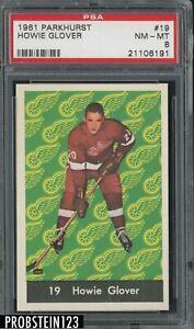 1961 Parkhurst Hockey #19 Howie Glover PSA 8 NM-MT