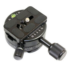 Panoramic Tripod Ball Head Base 360 Degree Rotation Quick Release Clamp Plate