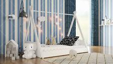 Kids Children Teepee & Tree House Solid Pine Wood Single Bed White Kids & Adult