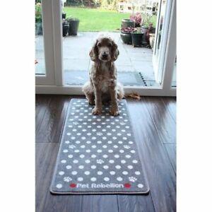Cat Barrier Rug Large Door Mat Runner PET REBELLION Dotty Grey Indoor Doormat