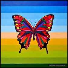 large 'Madama Butterfly' acrylic on canvas by Australian artist Cliff Howard
