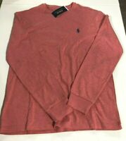Men's Sz M Polo Ralph Lauren LONG SLEEVE Crew Neck T Shirt Pink Heather