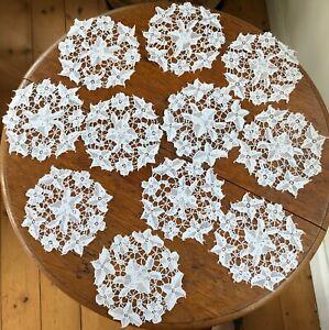 Set 11 Small Vintage Lace Doilies
