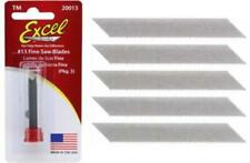Excel Blades #13 Fine Saw Hobby Blade, 5 Pack, Replacement Craft Knife Blades