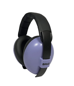 Baby Banz Plastic Hearing Protection Earmuffs for Infants - Purple