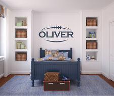 Football Name - Boys Bedroom Nursery Decal Wall Art Sticker