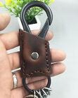 Men's Genuine Leather Vintage Brown Keychains Multifunction Key Chains
