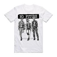 No Future Super Hero Punk T Shirt - Music Tee Rock Festival Clothing Grunge Tee