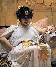 John William Waterhouse Egyptian Queen CLEOPATRA fine art canvas print