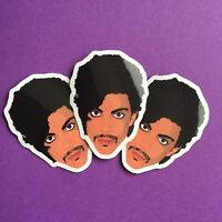 3x Prince Art Controversy Fan Tribute Commemorative Gloss Vinyl Stickers 5x4cm