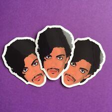 3x Prince Art Controversy Fan Tribute Commemorative Gloss Vinyl Stickers 5x4cm
