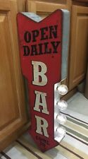 Bar Light Arrow Open Daily Come In Double Sided Flange Vintage Style Beer Decor