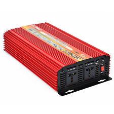 Peak 5000W 2500W Power Inverter Converter Adapter Dual DC 12V to 220V AC Outlets
