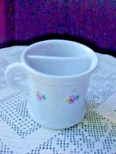 Shaving Mug Mustache Cup Porcelain Floral Pink With Gold AccentsVintage