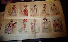 Affiche & Gravures la Mode & Le Costume 1800.1830 Ancienne Robe Toilette Chapeau